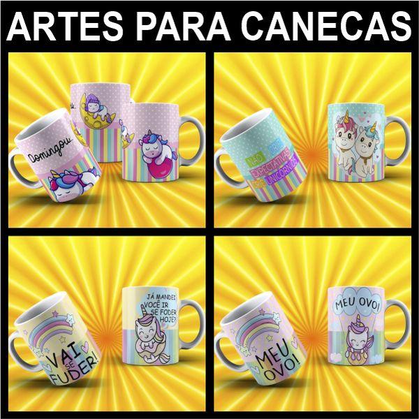 Imagem principal do produto ARTES PARA CANECAS UNICÓRNIO MALCRIADO