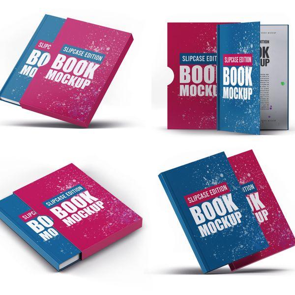 Imagem principal do produto Capa e-Book Magnético - Kit 4 Book Cover Mockups #9 - PSD 100% Editável