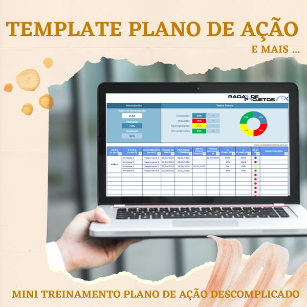 Imagem principal do produto Template Plano de Ação + Mini curso Plano de Ação Descomplicado