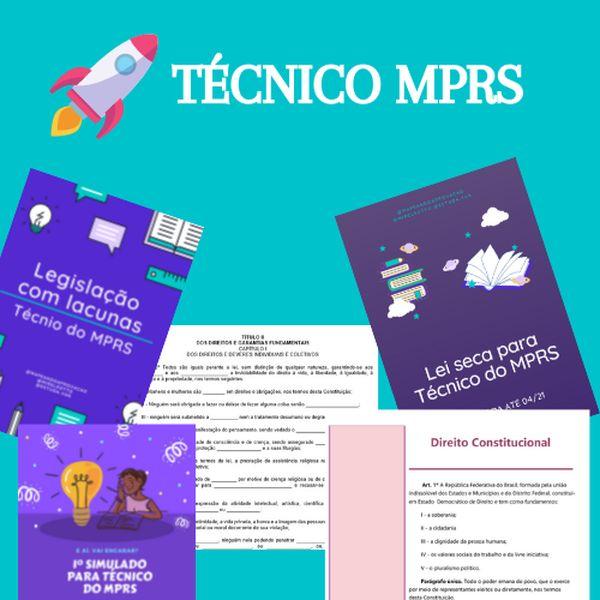 Imagem principal do produto Materiais da aprovação - Técnico MPRS