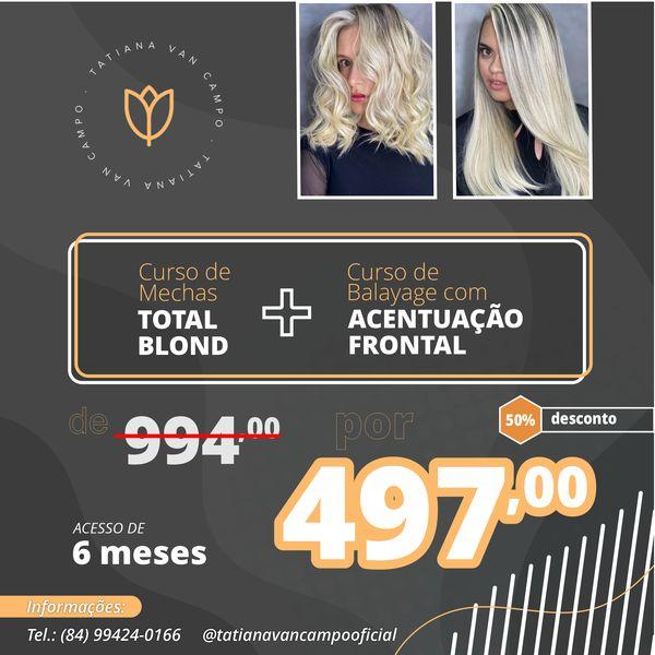 Imagem principal do produto COMBO - Total Blond + Balayage com Acentuação Frontal