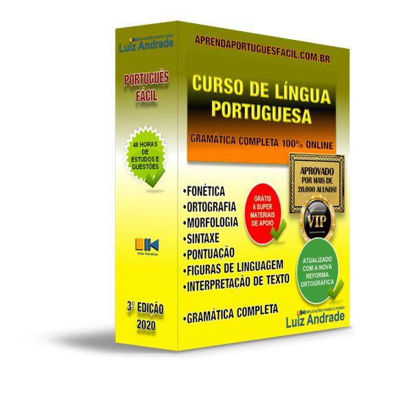 Imagem principal do produto Curso ONLINE de Língua Portuguesa Aprenda Português Fácil