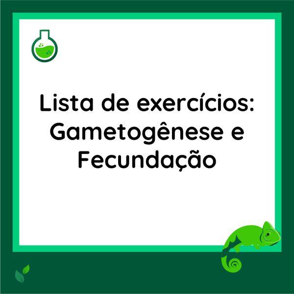 Imagem principal do produto Lista de exercícios - Gametogênese e Fecundação