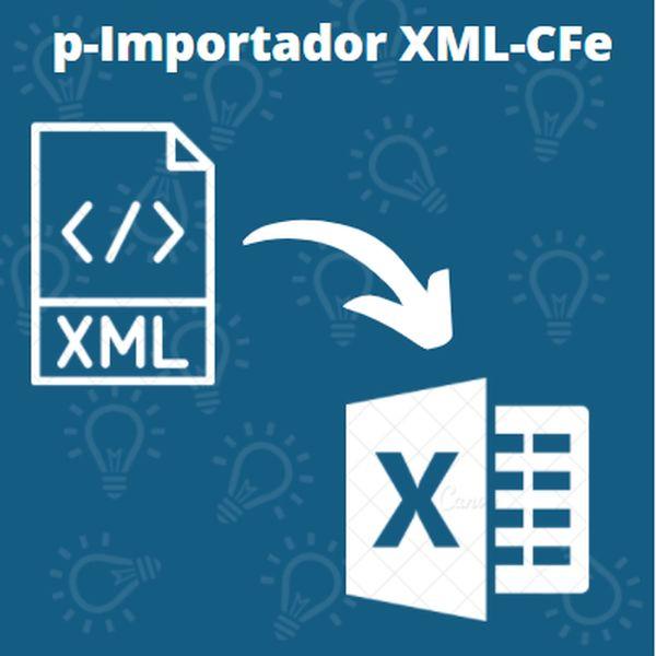 Imagem principal do produto Importar XML de SAT-CF-e para o EXCEL | 1.000 XML em 1 MINUTO | Simples e Fácil