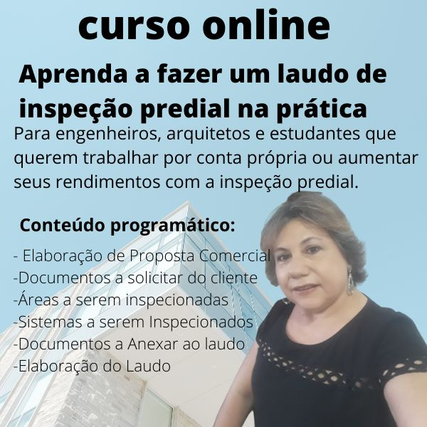 Imagem principal do produto APRENDA A FAZER UM LAUDO DE INSPEÇÃO PREDIAL NA PRÁTICA