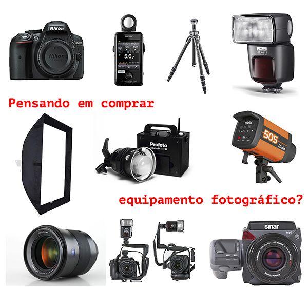 Imagem principal do produto Comprando Equipamento Fotográfico - Do tripé ao estúdio!