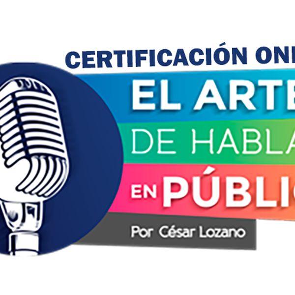 """Imagem principal do produto Certificación Online """"El Arte de Hablar en Público"""""""