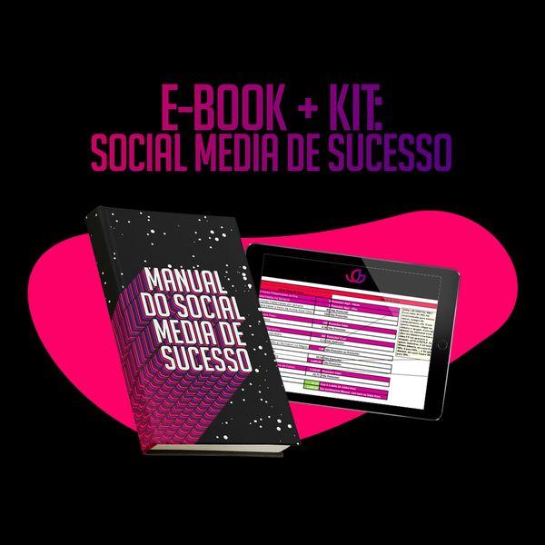 Imagem principal do produto COMBO: e-book 'Manual do Social Media de Sucesso' + KIT do Social Media de Sucesso