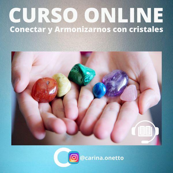 "Imagem principal do produto Curso ""Conectar y armonizarnos con cristales"""