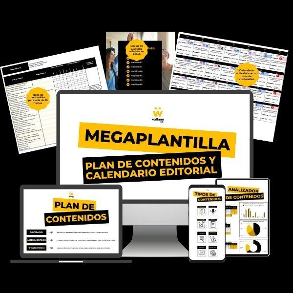 Imagem principal do produto Mega Plantilla de Contenidos - Wattana Labs