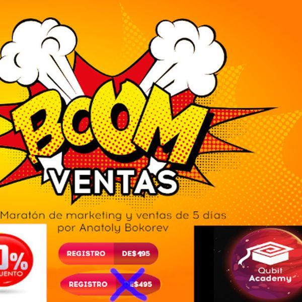 Imagem principal do produto Curso virtual de Marketing y Ventas (boom ventas); maratón de 5 días