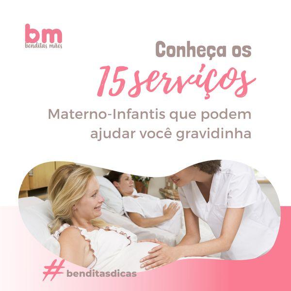 Imagem principal do produto E-book com os 15 Serviços Materno-Infantis que podem ajudar você gravidinha!
