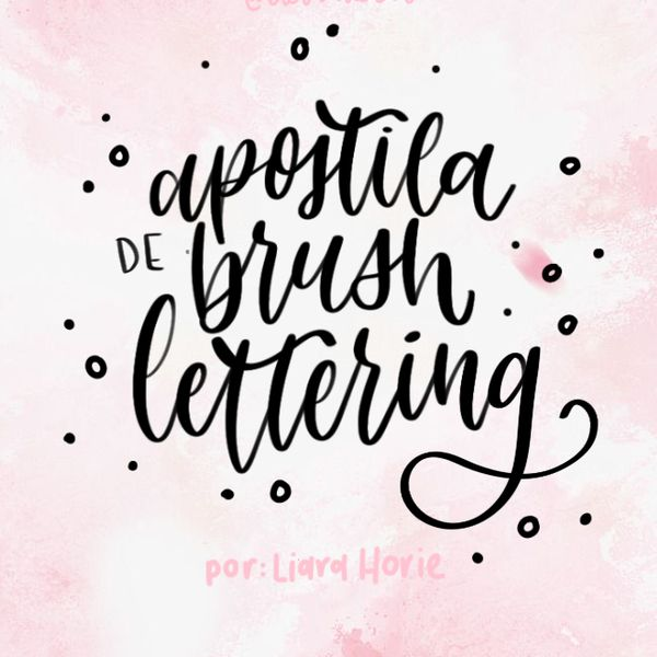 Imagem principal do produto Apostila de Brush Lettering   por Liara Horie