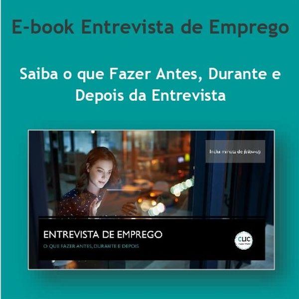 Imagem principal do produto E-Book Entrevista de Emprego