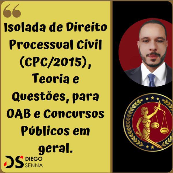 Imagem principal do produto Prof. Diego Senna I Isolada Completa de Direito Processual Civil (CPC/2015).