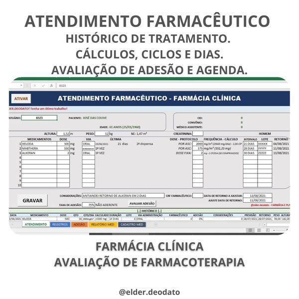 Imagem principal do produto ATENDIMENTO FARMACÊUTICO - FARMÁCIA CLÍNICA