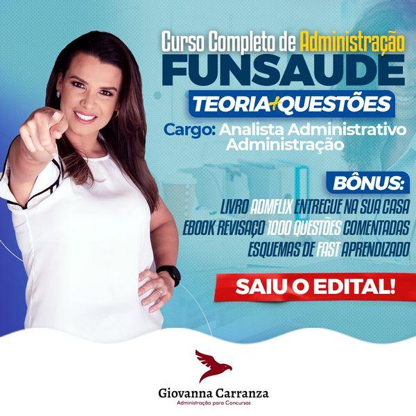 Imagem principal do produto FUNSAUDE - ADMINISTRAÇÃO - Analista Administrativo