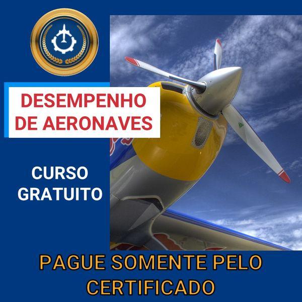 Imagem principal do produto Curso Gratuito de Desempenho de Aeronaves
