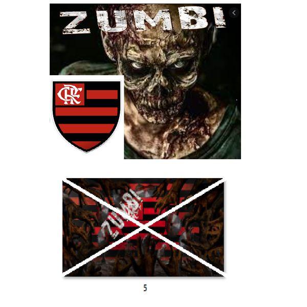 Imagem principal do produto Flamengo no estilo zumbi para estampar camisetas da catástrofe 5