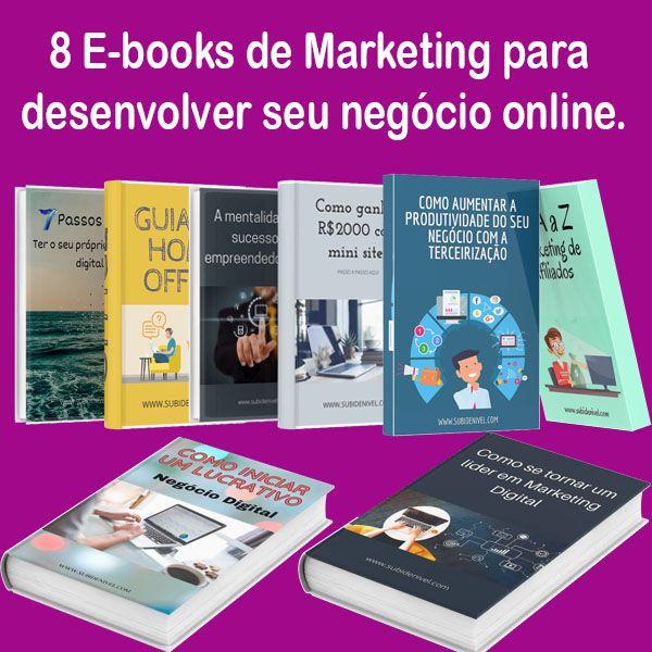 Imagem principal do produto 8 E-books de Marketing Digital e empreendedorismo!