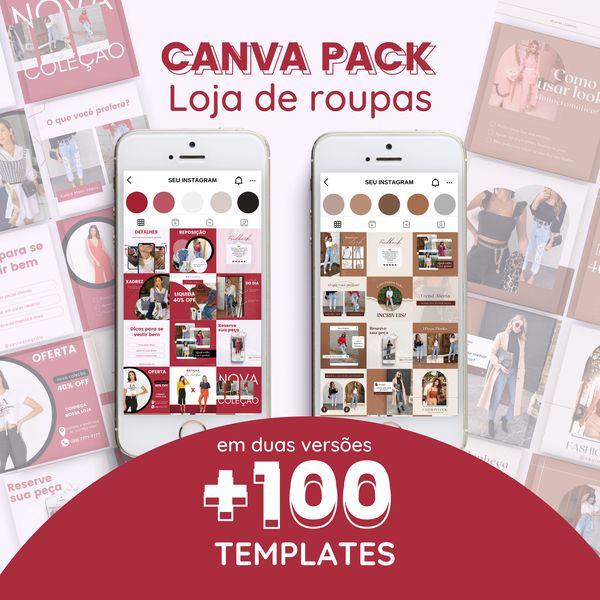 Imagem principal do produto Canva Pack Loja de Roupas