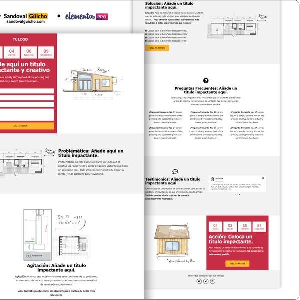 Imagem principal do produto 34-. 📐  Landing Page para Arquitectura / Arquitectos - Compatibles para WordPress y Elementor PRO.