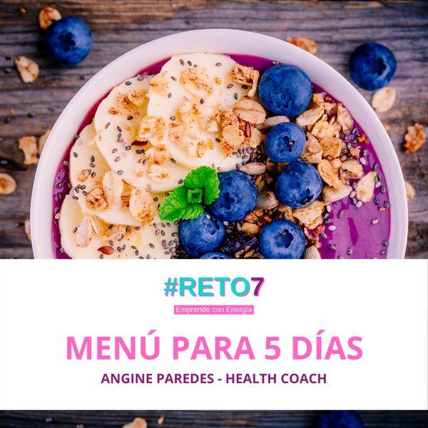 Imagem principal do produto Menú Saludable para 5 días