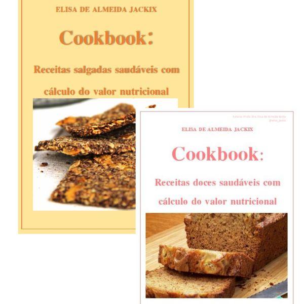 Imagem principal do produto Cookbook de receitas DOCES e SALGADAS saudáveis