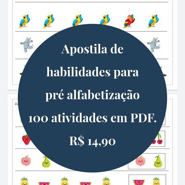Imagem principal do produto Apostila de Habilidades para pré alfabetização
