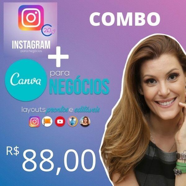 Imagem principal do produto COMBO Instagram 2.0 para negócios + CANVA para negócios