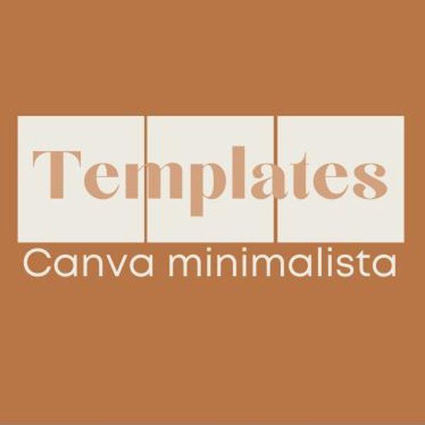 Imagem principal do produto 60 Templates minimalistas editáveis no canva