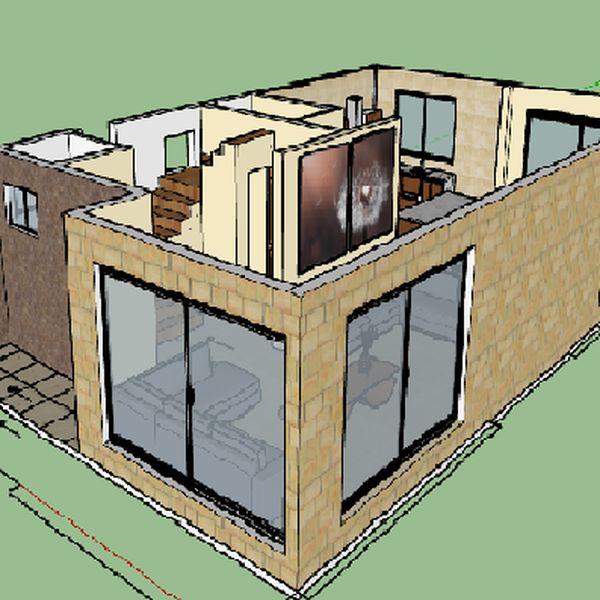 Imagem principal do produto Casa 160 m2, Plano Arquitectónico, estructural e instalaciones