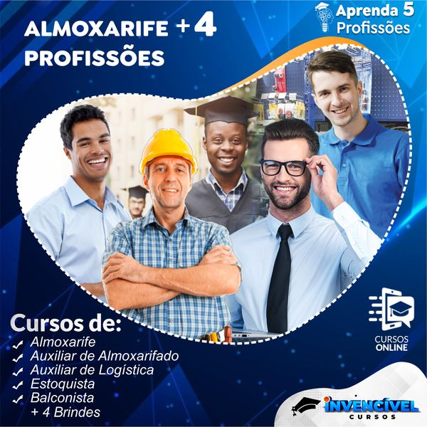 Imagem principal do produto ALMOXARIFE + 4 PROFISSÕES + 4 BRINDES