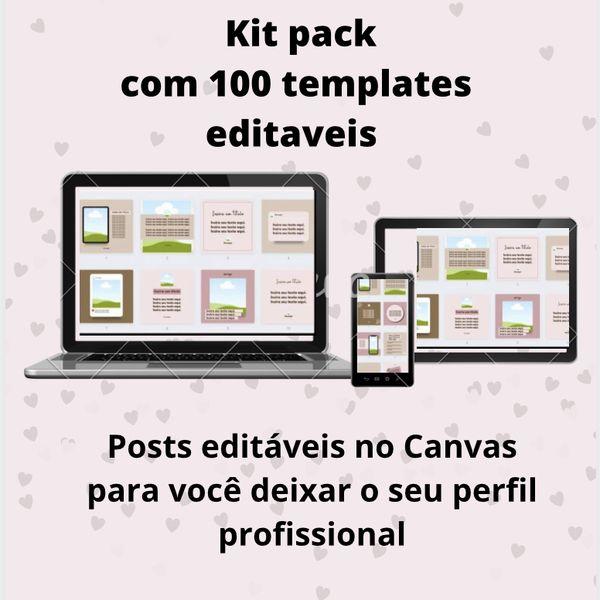 Imagem principal do produto Kit pack com 100 templates editáveis