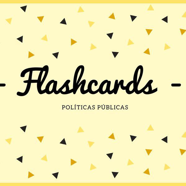 Imagem principal do produto E-book flashcards de políticas públicas