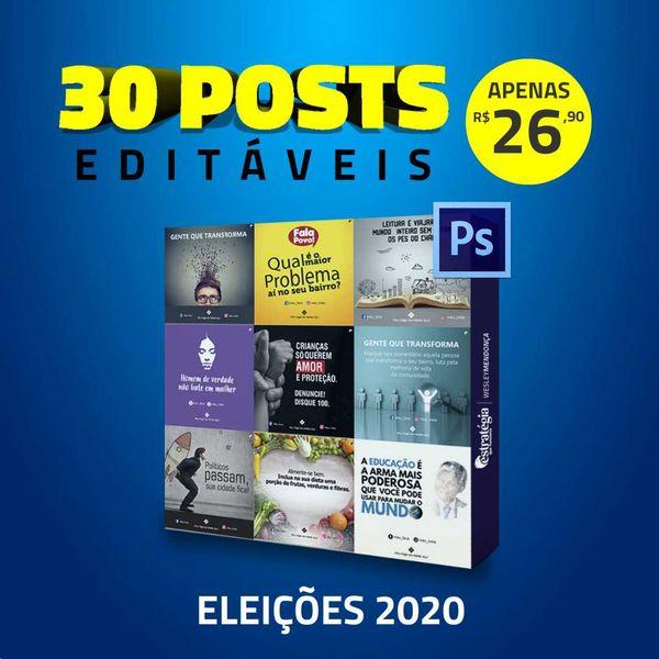 Imagem principal do produto 30 artes para redes sociais de candidatos - 1º LOTE