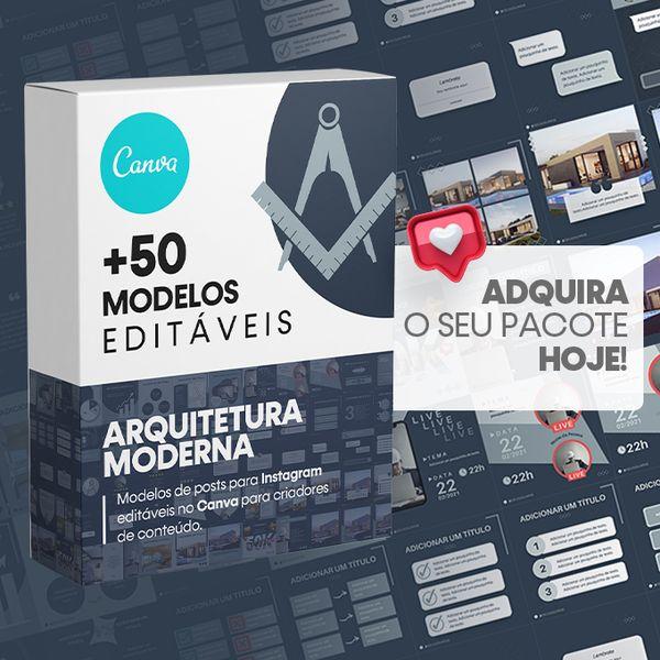 Imagem principal do produto Canva +50 Templates Arquitetura Moderna Para Instagram