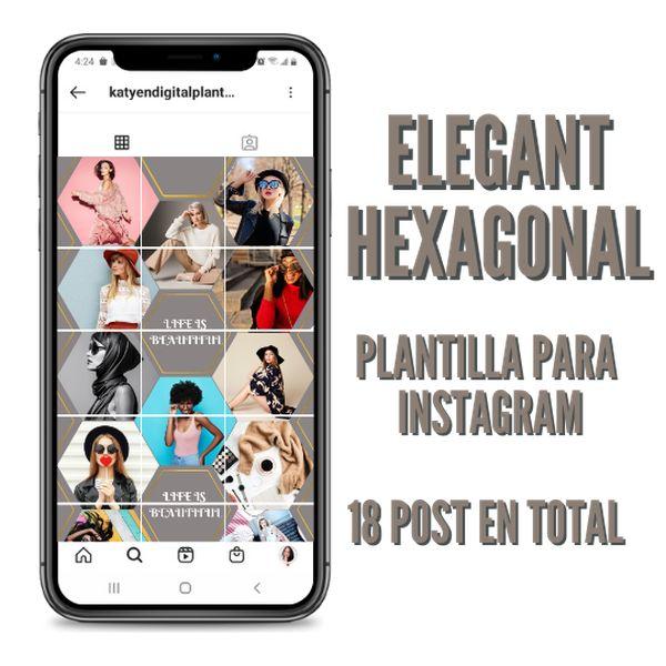 Imagem principal do produto ELEGANT HEXAGONAL PLANTILLAS EDITABLES EN CANVA