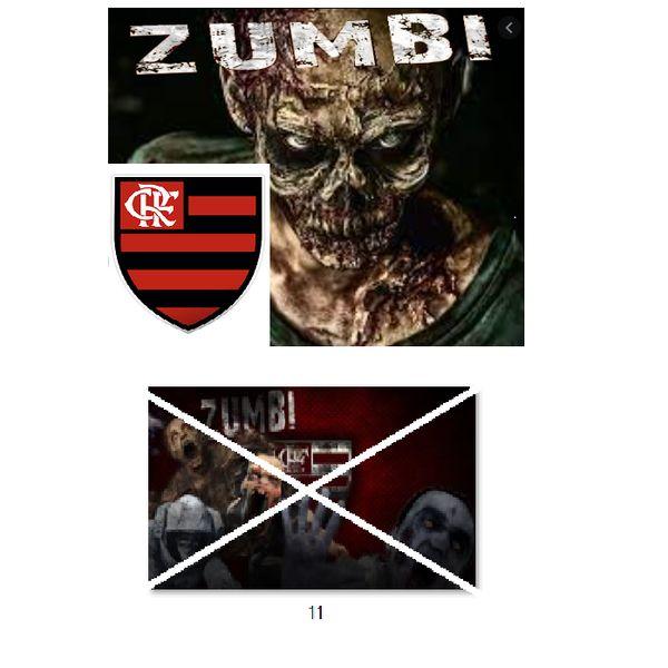 Imagem principal do produto Flamengo no estilo zumbi para estampar camisetas da catástrofe 11