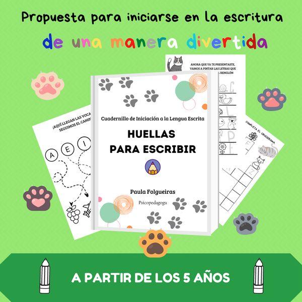 Imagem principal do produto HUELLAS PARA ESCRIBIR, ESCRITURA PARA NIÑOS