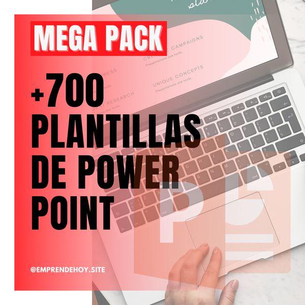 Imagem principal do produto +700 PLANTILLAS DE POWER POINT