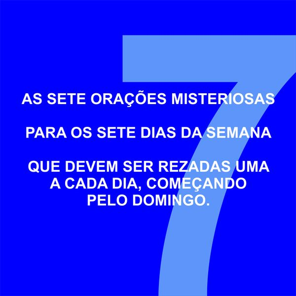 Imagem principal do produto AS SETE ORAÇÕES MISTERIOSAS