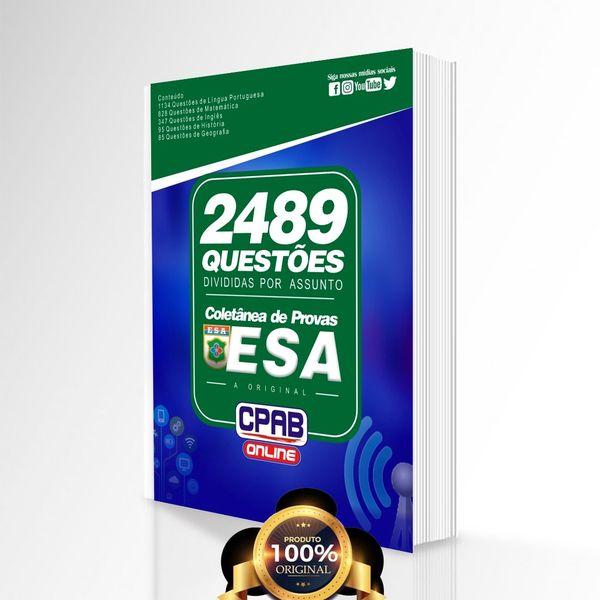 Imagem principal do produto ESA (Sargento do Exército) - Questões de provas DIVIDIDAS POR ASSUNTO (2020)
