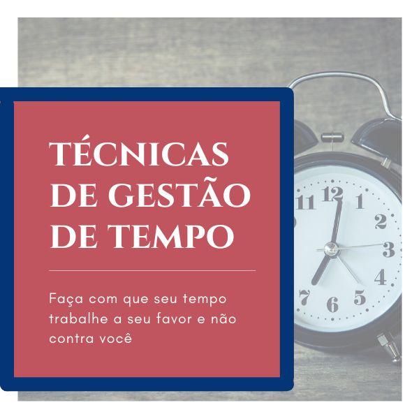 Imagem principal do produto Técnicas de gestão de tempo - Faça seu tempo trabalhar para você e não o contrário