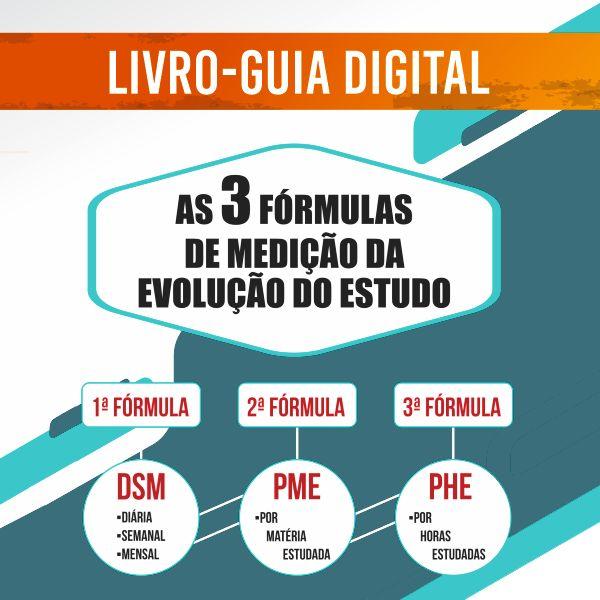 """Imagem principal do produto Livro-Guia Digital """"As 3 Fórmulas de Medição do Estudo"""""""
