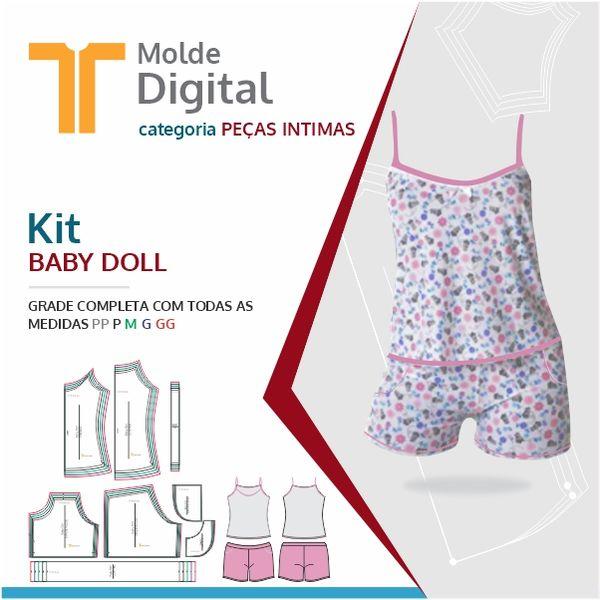 Imagem principal do produto kit molde Digital Baby Doll