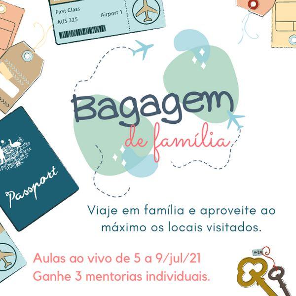 Imagem principal do produto Bagagem de Família - Economize viajando em família e aproveite ao máximo os locais visitados.