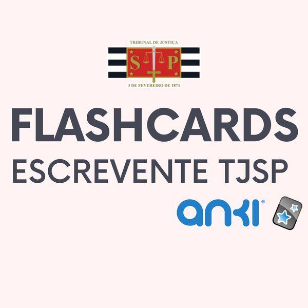 Imagem principal do produto Flashcards - Escrevente TJSP