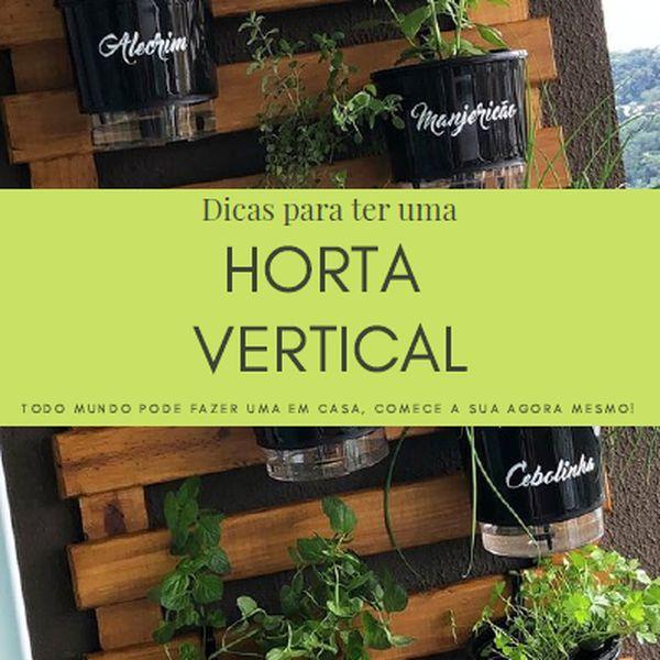 Imagem principal do produto Dicas para ter uma horta vertical