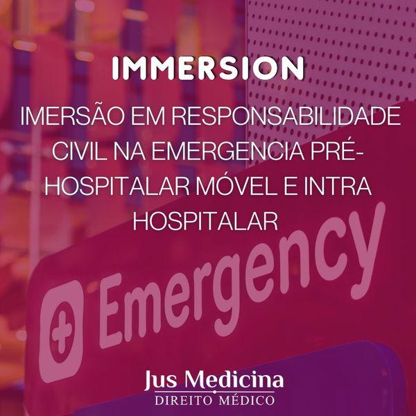 Imagem principal do produto A Imersão em Responsabilidade Civil na Emergência Pré-Hospitalar Móvel e Intra- Hospitalar
